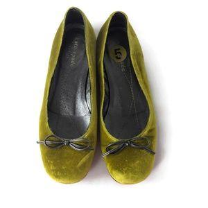 Kate Spade Yellow French Velvet Ballet Flat